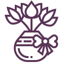 flowers in a vase icon